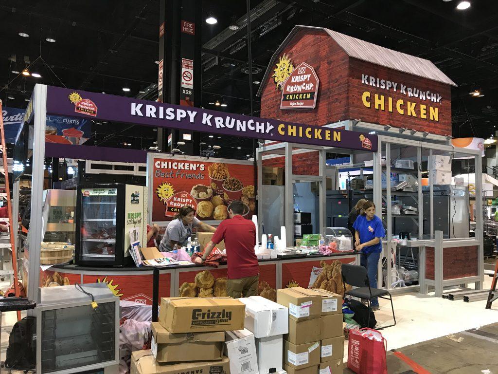 Krispy Krunchy Chicken Custom Exhibit | VOXX Exhibits
